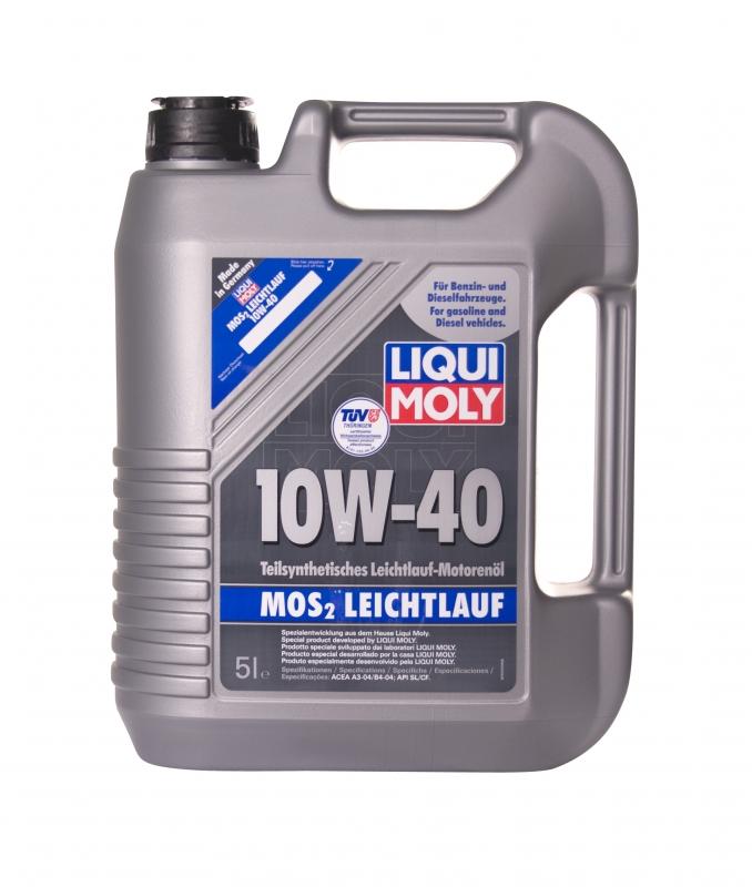 Купить Полусинтетическое моторное масло LIQUI MOLY MoS2 Leichtlauf 10W-40