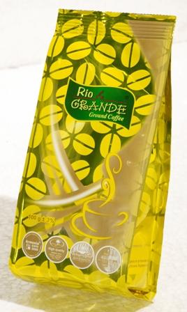 Купить Кофе натуральный жареный молотый Рио Гранде Квадро Желтый 100г