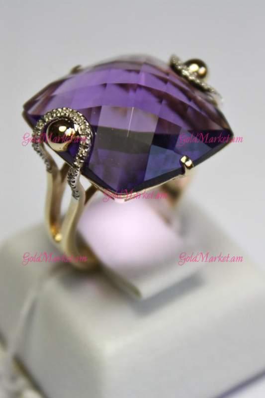 Купить Женское кольцо с аметистом