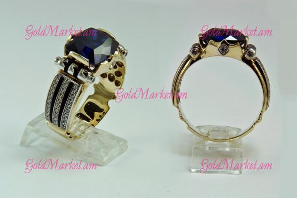 Купить Мужское кольцо с сапфиром