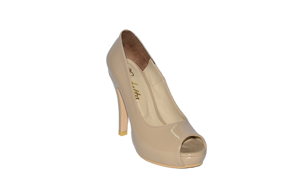 Shoes vusoky platform and heel open toe beige code 655