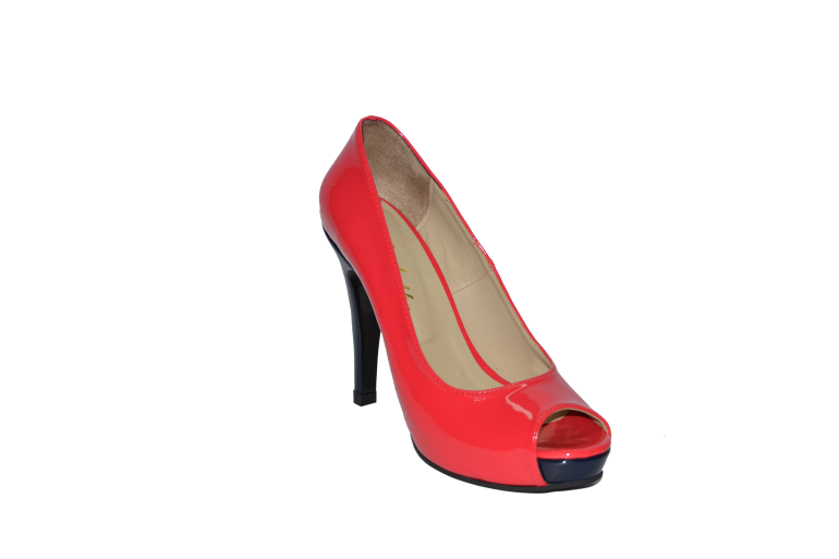 Buy Shoes high platform graceful heel red varnished