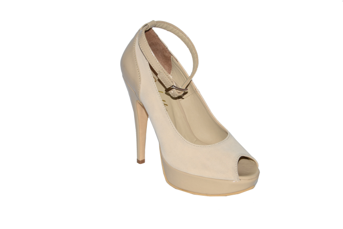 Buy Shoes vusoky platform and heel open toe beige code 1041