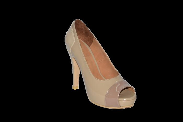 Buy Shoes vusoky platform and heel open toe beige code 658
