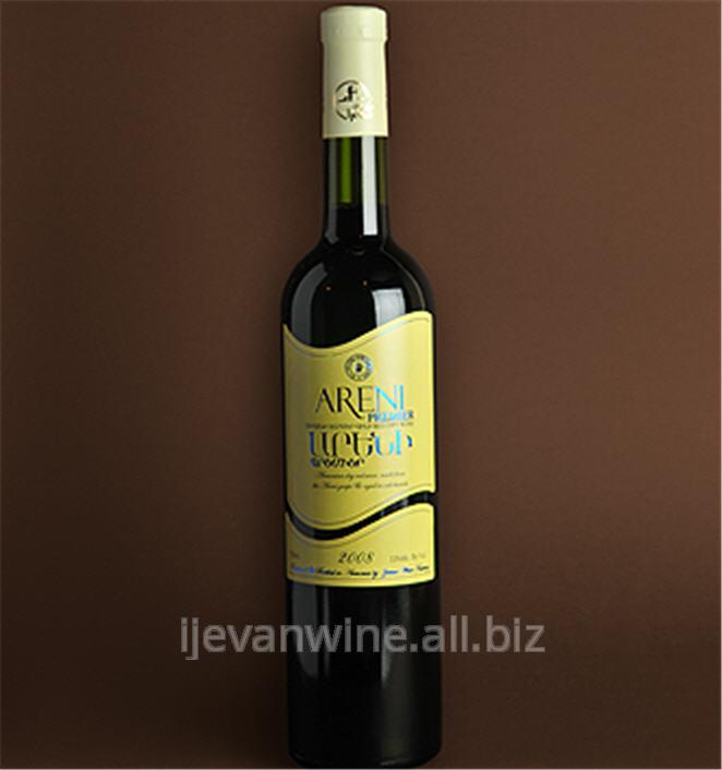 Купить Вино `Арени Премиер - 2008` с выдержкой из урожая 2008 года красное сухое виноградное вино обладает прекрасным ароматом спелого винограда