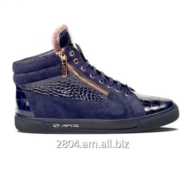 Купить Замшевые зимние ботинки сникерсы 2012