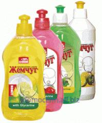 Средство для мытья посуды с ароматом лимона,