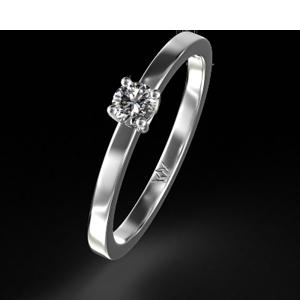 Кольцо из золота с бриллиантом.