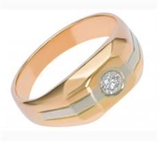 Перстень золотой с бриллиантом