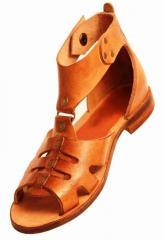 Female sandaleta of handwork