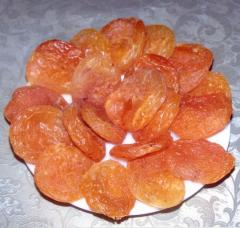 Apricots are dried