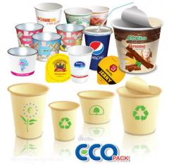 Paper cups for ice cream