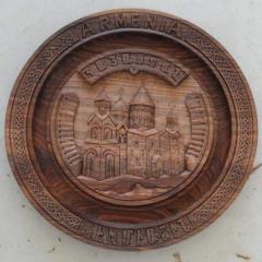 Plate decorative handwork, a tree nut, diameter of