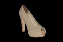 Туфли вусокая платформа и каблук открытый носок код 1133