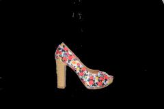 Туфли высокий каблук платформа открытый носок код 703