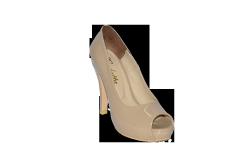 Shoes vusoky platform and heel open toe beige code
