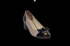Туфли низкий каблук открытый носок лакированный код 721