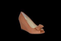 Туфли танкетка открытый носок натуральная кожа код 1134
