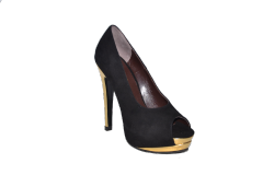 Shoes vusoky platform and heel open toe black