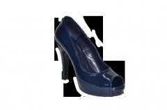 Shoes vusoky platform and heel open toe blue code
