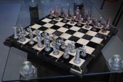 Шахматы из обсидиана