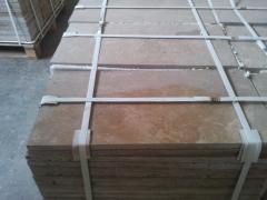 Травертиновые плитки, полированные