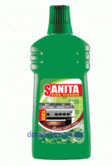 SANITA GEL - cleans and the grill and a barbecue,