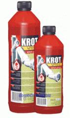 Универсальное средство КРОТ-М для прочистки труб удаляет загрязнения любой сложности, даже самые труднорастворимые, в трубах и стоках