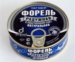 Форель Радужная В Собственном Соку.Натуральная