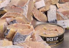 Рыбные консервы: Осетр в собственном соку натуральный