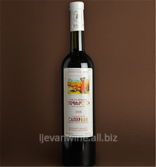 Armenian Saperavi wine semi-dessert special of red