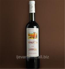 Вино `Армянское Саперави` полудесертное специальное из красного винограда. Кондиции: спирт 16%, сахар 5-12%.