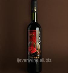 Вино `Вишневое` цвет от розового до красного