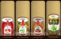 Красный Перец , Арбуз Маринованный, Запеченые Овощи, Виноградные Листья Консервированные