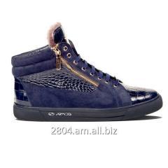 Замшевые зимние ботинки сникерсы 2012