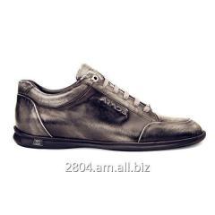 Мужские ботинки вощёные чёрные кожаные