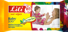 Wet towel wipes for children with aloe extract