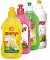 Средство для мытья посуды с ароматом лимона, клубники и зеленого яблока