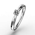 Кольцо c бриллиантом.