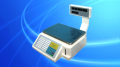 Scales with the printer for label printing, barcodes
