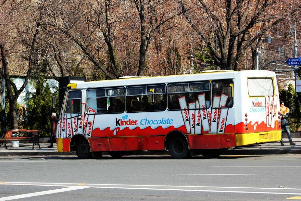 Заказать Наружная реклама на общественном транспорте