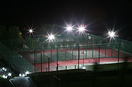 Теннисные корты, мини футбол и баскетбол